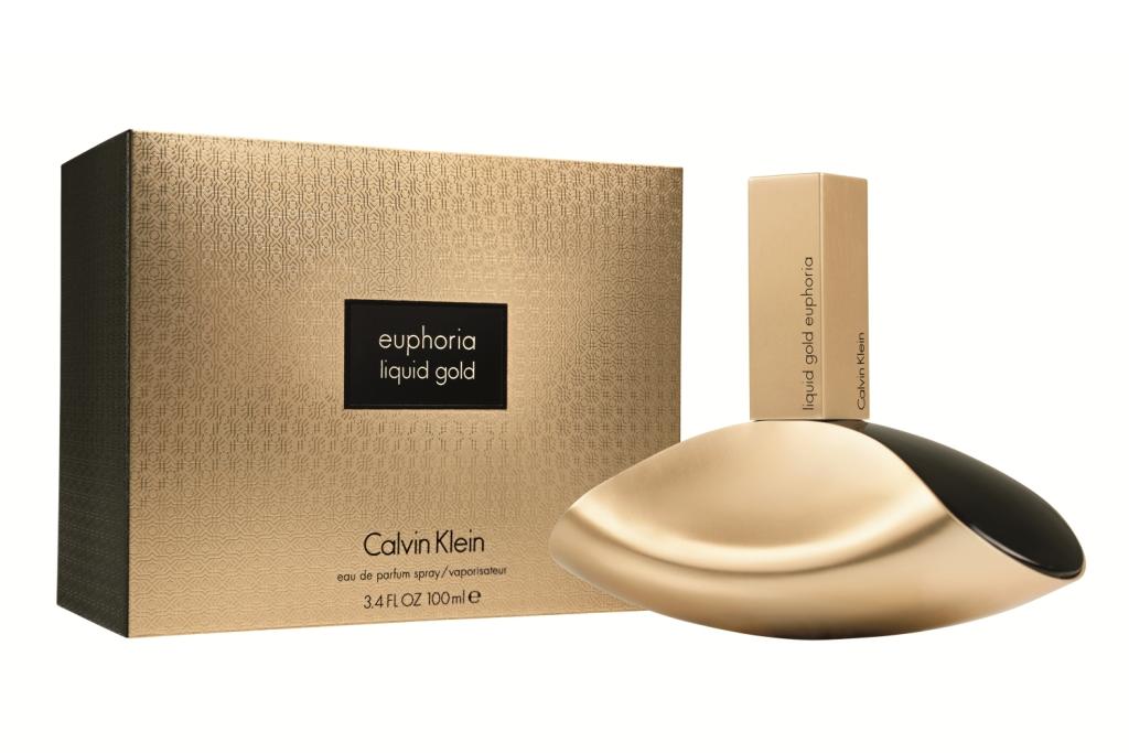 Calvin Klein Liquid Gold Euphoria-Очень популярный женский аромат. Это восточно-древесная композиция для женщин, заявленная как сильная, чувственная и загадочная. Ароматом, который при этом еще и является, истинным олицетворением роскоши и изыска.Духи, являются воистину шикарными и гламурными.  Эйфория  и сам аромат, как приглашение в роскошный мир богатства, полный золота, роскоши, новых впечатлений. Сначала возникают нежные, пряные и роскошные ноты корицы, как демонстрация изысканности его хозяйки. Затем сквозь него разливается восхитительный аромат шикарной черной орхидеи, как прикосновение к тайне. В основе композиции лежат роскошные, как драгоценный бархат, сливочно-древесные аккорды сандала, олицетворяющее уверенность и респектабельность. С Calvin Klein Liquid Gold Euphoria-Парфюм-Богатства, принимая вас в мир Роскоши.