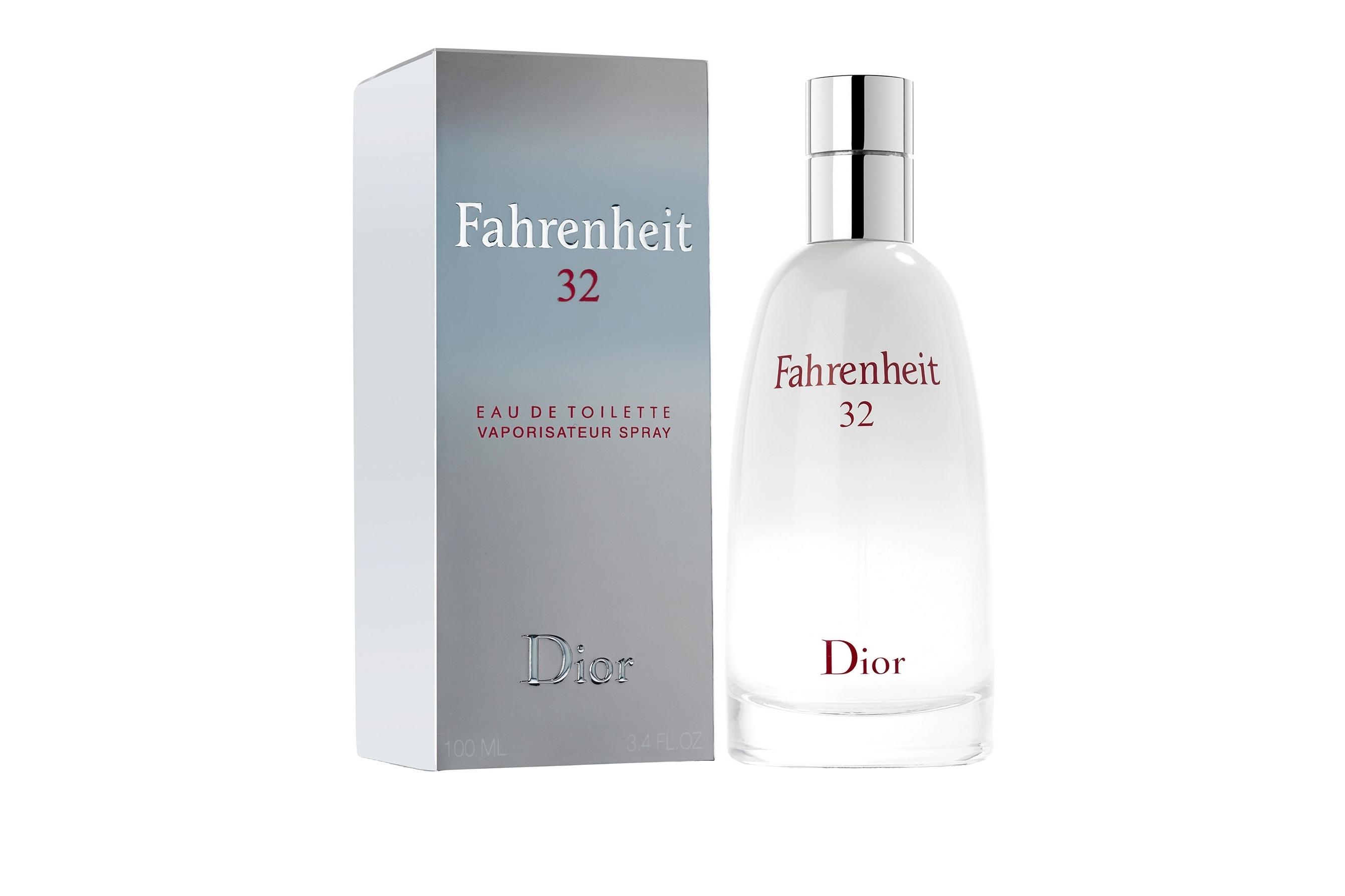 Fahrenheit 32 от Christian Dior. Fahrenheit 32 символизирует ледяную свежесть, состоит из сложной комбинации теплых, восточных мотивов, навеянных нежными, хрустальными и, немного терпкими цветами апельсинового дерева, чувственной сладостью ванили и лесной свежестью ветивера. Новый парфюм поражает волнующим и противоречивым благоуханием, одновременно теплым и холодным, свежим и терпким, создавая фантастическую комфортную атмосферу вокруг, притягивающую мужественных и чувственных мужчин, жизнь которых полна контрастов.