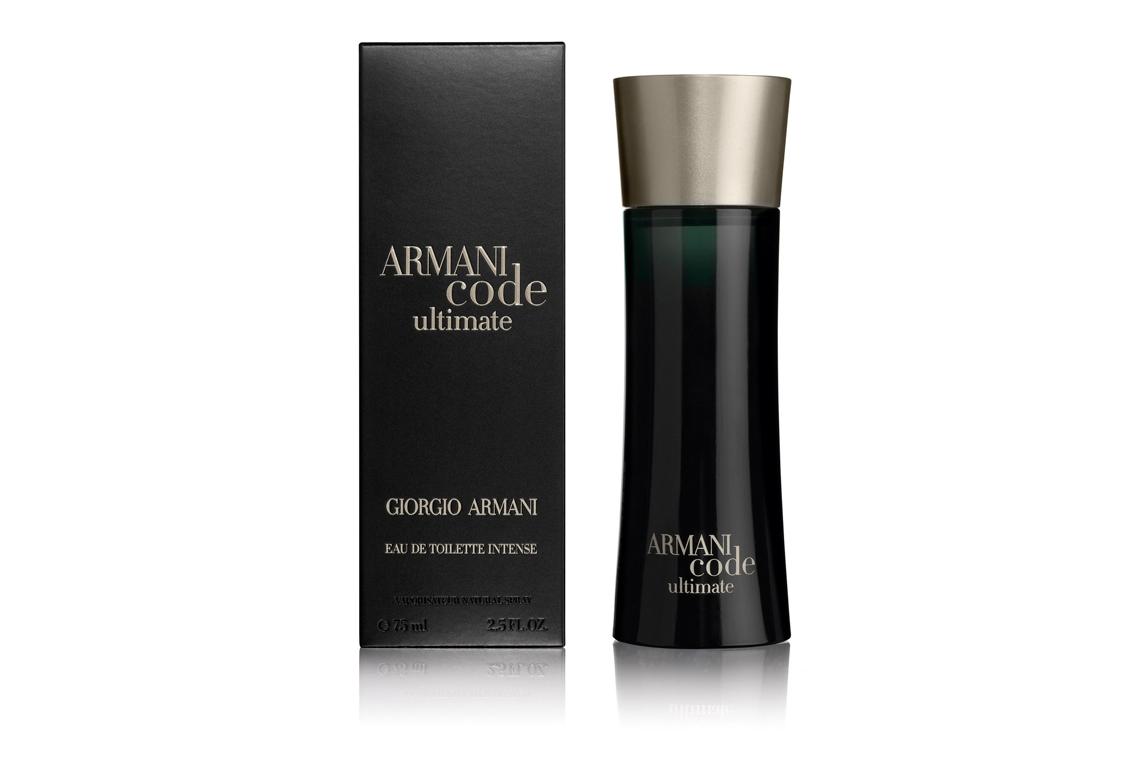 Armani Code Ultimate - Дом Armani продолжает секретную коллекцию Code новым ароматом Armani Code Ultimate, который обещает стать символом мужественности и соблазна. Чувственный и роскошный, Armani Code Ultimate – это всепобеждающая сила элегантности и обольщения, которая выходит за рамки внешности. Armani Code Ultimate, как идеально сидящий смокинг, обладает магнетизмом притягивать взгляды, быть сдержанным и, в то же время, очень таинственным и сексуальным. Armani Code Ultimate – все грани мужского обольщения!