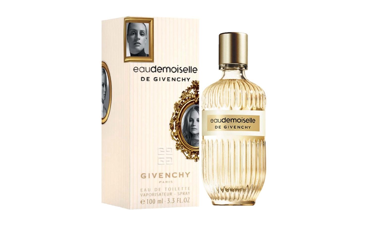 Юная, женственная, элегантная и утончённая, она следует традициям, но при этом ярко выражает свою индивидуальность, именно такой девушке Givenchy адресует свой новый аромат EauDemoiselle. Создатель EauDemoiselle de Givenchy Франсуа Демаши описывает его как волшебную розу, купающуюся в утренней росе . Свежая цветочная туалетная вода, сочетающая традиции и современность. Ноты аромата: итальянский лимон, мандарин, турецкая роза, иланг - иланг, цветы апельсина, мускатный орех, кедр, бобы тонка, мускус.