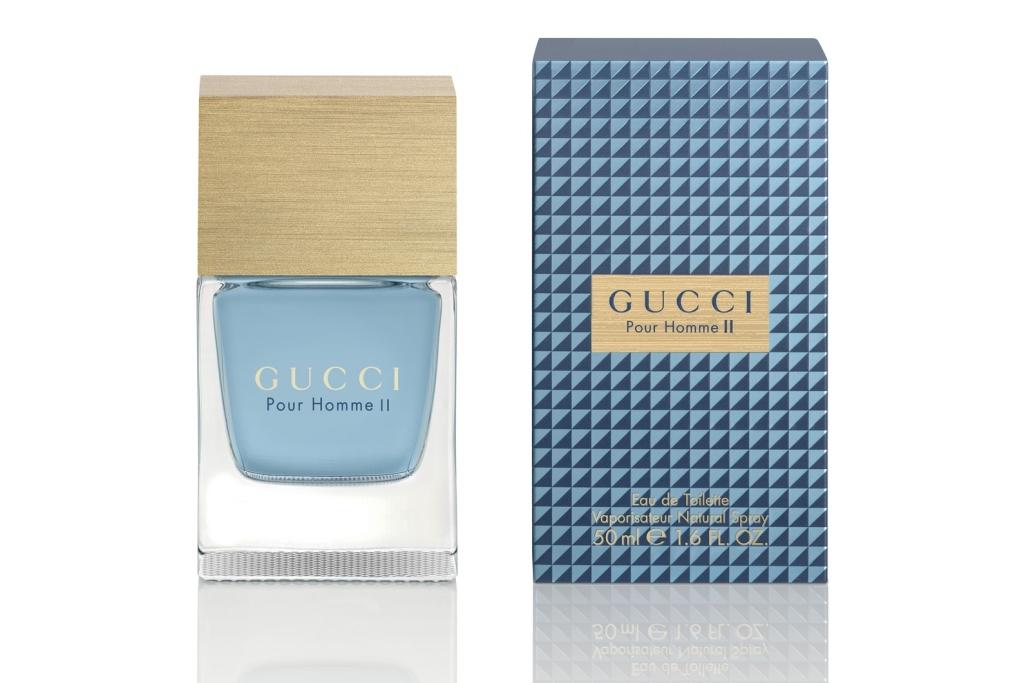 Gucci Pour Homme II появился в 2007 году. Это роскошный аромат, который придаст своему обладателю безупречности. Он великолепно дополнит образ делового и стильного мужчины, который вполне успешен и самодостаточен. Рядом с таким мужчиной всегда надежно и комфортно. Основной состав композиции: листья фиалки, бергамот, чай, корица, стручковый перец, миро, мускус, листья табака, оливковое дерево.
